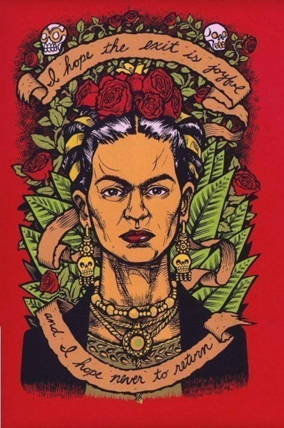Frida Kahlo Last Words 1 limited edition fine art print 1st Edition LAST COPY