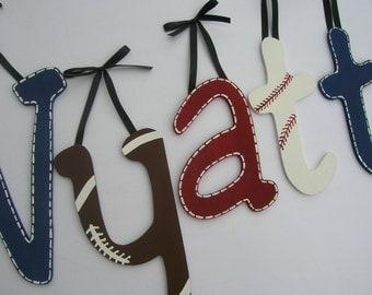 SALE Custom wooden wall letters - Sports wooden letters