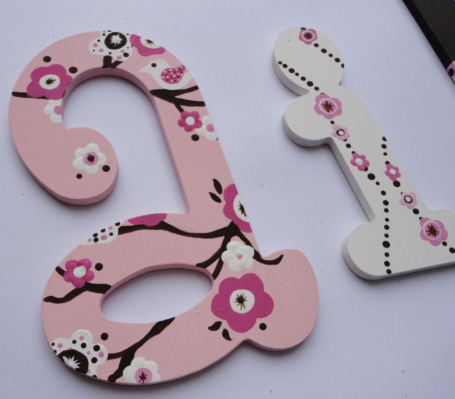 Items Similar To Hand Painted Wooden Letters Baby