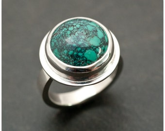 Turquesa Ring - Turquoise and Sterling Silver Ring size 8