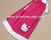 Hello Kitty Inspired Personalized Pillowcase Dress 3 6 9 12 18 month mo 2T 3T 4 5 6 ... By Girlie Bows