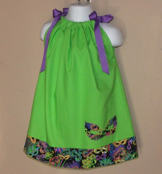 Mardi Gras Time Pillowcase Dress Or Top Size 3 6 9 By