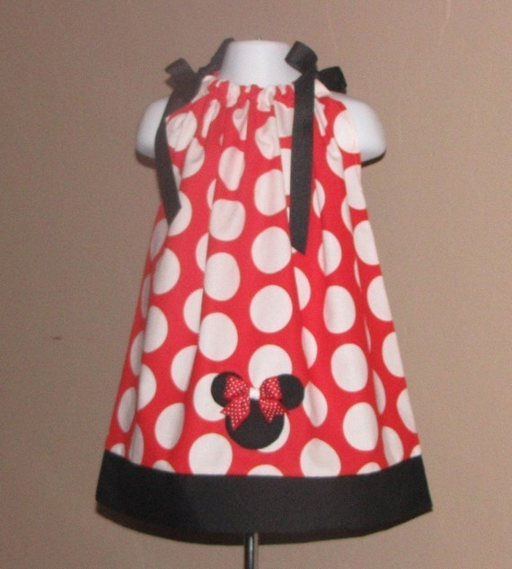 Minnie Mouse Disney Vacation or Birthday Pillowcase Pillow Case Dress Halter Dress or Top size 3 6 9 12 18 month mo 2T 3T 4 5 6