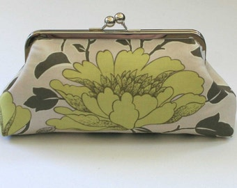 Clutch Purse Amy Butler Sand Peony Bridesmaid Clutch