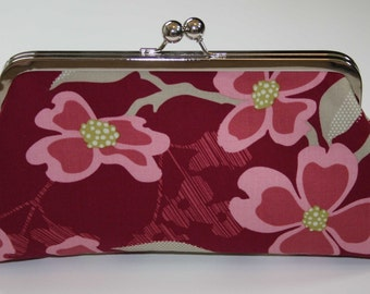Clutch/Purse/Handbag Berry Pink Dogwood Bridesmaid Clutch