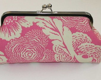 Personalized Bridesmaid Clutch in Pink, Pink Clutch Purse, Pink Maid of Honor Gift - SALE