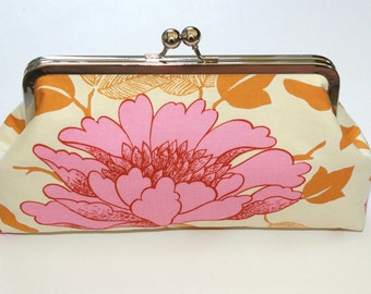 Pink Wedding Bridesmaid Gift, Bridesmaid Clutch, Wedding Party Gifts,  Pink Peony Clutch Purse