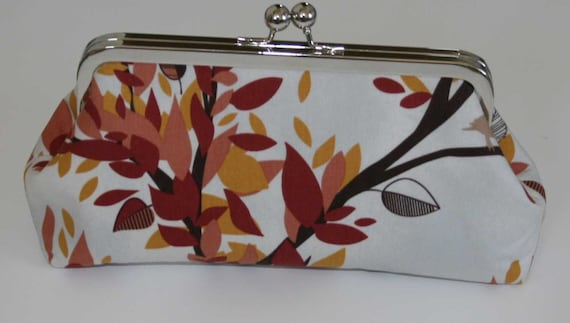 Clutch Purse Burnt Orange Rust Brown Branches Clutch Purse