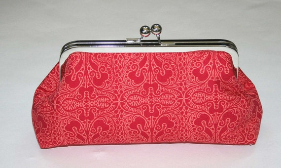 Red Lace Clutch/Purse/Handbag/Bridesmaid Gift