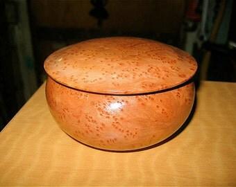 Redwood Burl, small lidded box, on sale 60.00