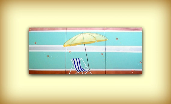 Lazy on the Shore...HUGE Original Metallic Contemporary Modern Art Diptych Painting by HD Greer