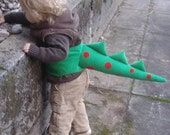 Green and Red Dragon/Dinosaur Dress-Up Tail