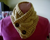 WOOL Double Knit Scarf  Warm Yellow