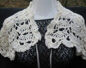 Off white LACY capelet