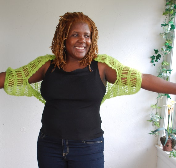 chartreuse Sequince shrug