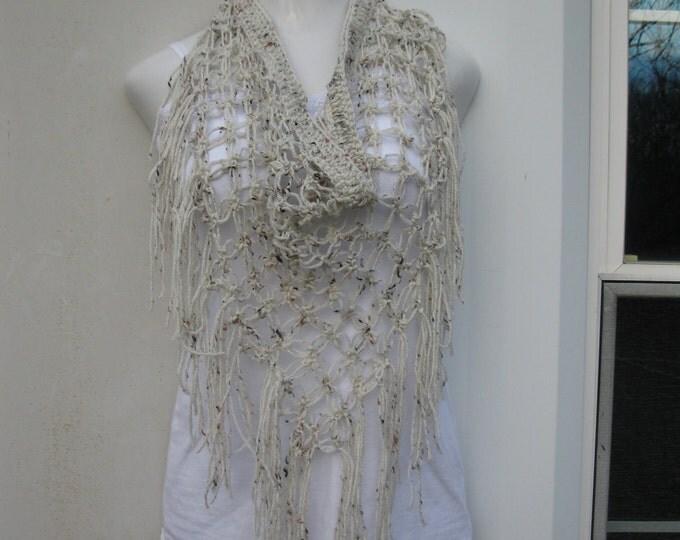 CROCHET SCARF, beach cover up, gypsy, sarong, scarf, festival clothing, wheat, boho chic, hippie beach skirt