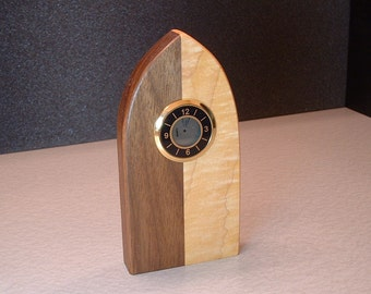 Handcrafted solid hardwood desk or table clock