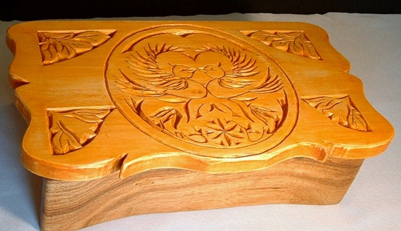 Jewelry box,sewing box,treasure box made from highly figured exotic  hardwoods,natural finish