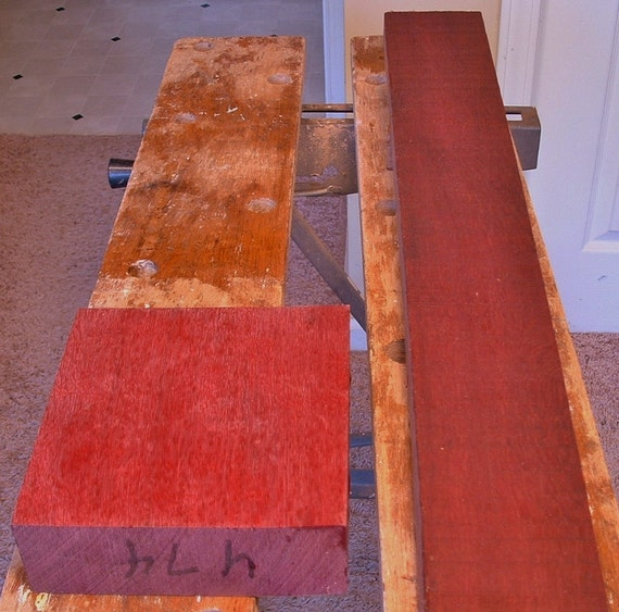 purpleheart exotic hardwood blocks for turning, carving or accents, pen blanks combined shipping