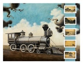 Obsolete Beast - Train 18x24 Limited Edition 006/100 - Modern Abstract and Surreal Landscape