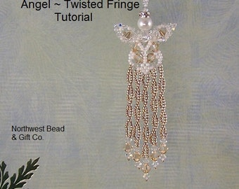 Tutorial, Swarovski Angel, Twisted Fringe - Instant Download