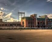 Lambeau Field - Green Bay Packers 11x33 Panoramic Fine Art Photograph, Super Bowl, Aaron Rodgers, Wisconsin, NFL Stadium - Home Decor