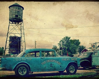 The Undertaker Fine Art Photograph, Chevy Belair, Automobile Art, Symco Shakedown, Wisconsin - Home Decor