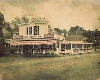 Wilson's Restaurant and Ice Cream Parlor, Fine Art Photograph, 8x12, Door County, Ephraim, Wisconsin