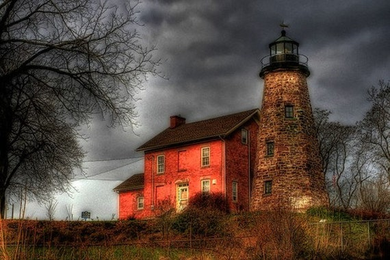 Charlotte Genesee Lighthouse Fine Art Photograph - 8x12- Home Decor