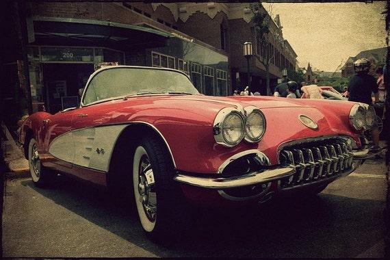 Vintage Corvette Fine Art Photograph 8x12 - Home Decor