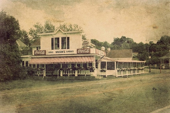 Wilson's Restaurant and Ice Cream Parlor, Fine Art Photograph, 8x12, Door County, Ephraim, Wisconsin