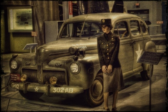 Women's Army Corp Officer - Fine Art Photograph -  Home Decor