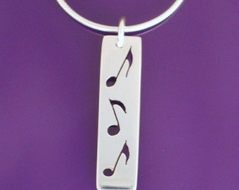 sterling music notes necklace