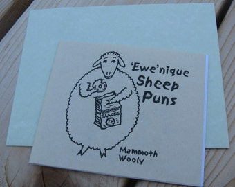 Ewenique Sheep Puns Gift Booklet