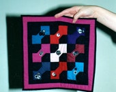 Hand Pieced Amishish Bow Tie Quilt