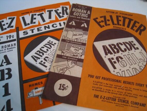 Vintage Letter and Number Stencils
