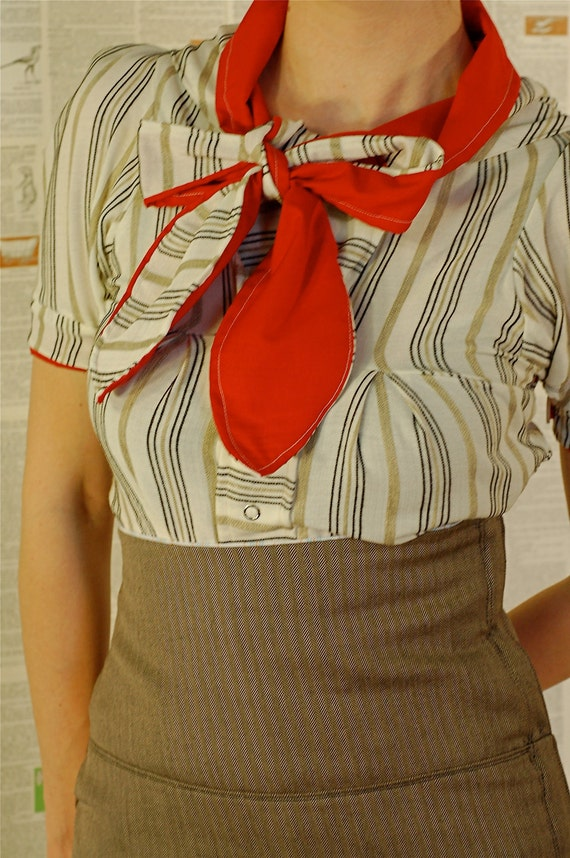ON RESERVE FOR valerie deichsel-- red tie blouse, payment two