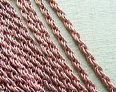 Copper Rope Chain   Small 3.3ft / 1 meter
