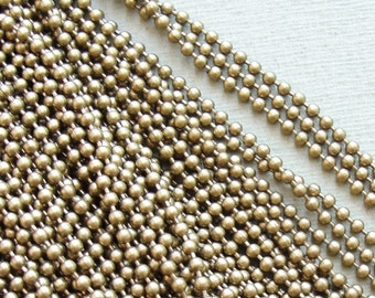 2.3 mm Brass ball chain  10 ft / 3 meters
