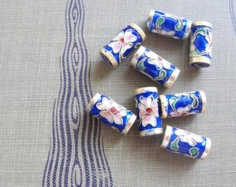 Sakura Cloisonne Beads    8pc