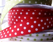 Holiday Ribbons Grossgrain 1/2inch wide x3metres in 3 colourways