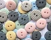 Buttons Droplet size 1.5cm x80 buttons mixed Academic colours STRIPES