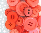 Buttons in beautiful CORAL Pink - 50g is 2oz approx