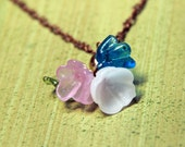 Vintage Italian glass flowers necklace