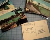 CUSTOM LISTING Vintage Geographic RSVP cards