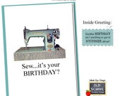 Sew, I'ts your Birthday. BIRTHDAY CARD