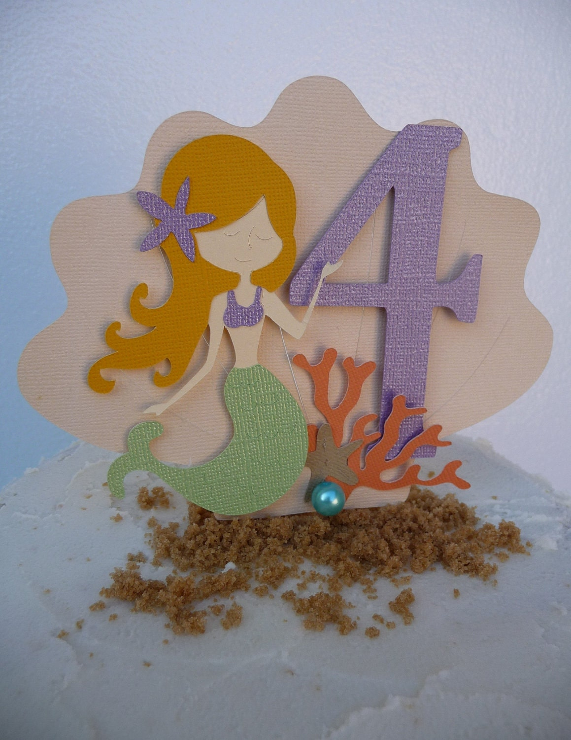 Ariel Cake Decorations Mermaid Cake Topper Under The Sea Theme Beach Pool Party
