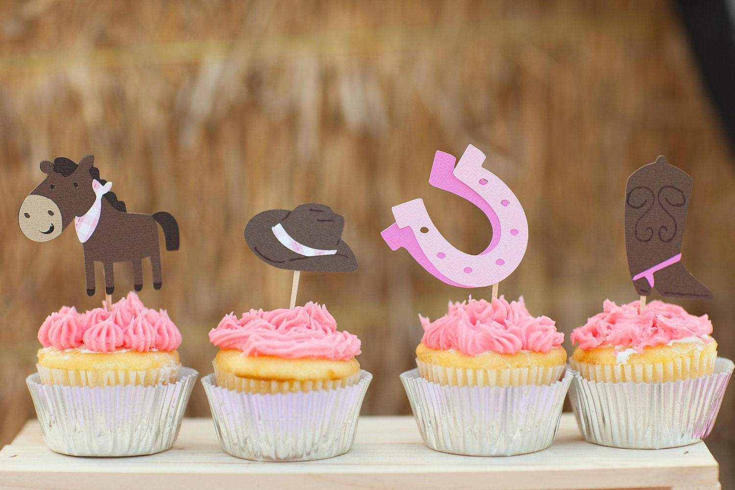 Cowgirl Birthday Decorations Cowgirl Cupcake Toppers Set Of 12 Giddy Up Pony Western Food
