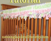 No Sew Tied Quilted Crib Rail Guard Tutorial TM Instant  Download PDF file