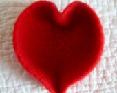 Large Sweetheart Red Felted Heart Shaped Bowl For your Valentine